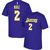 adidas Youth Los Angeles Lakers Lonzo Ball #2 Purple T-Shirt