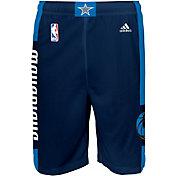adidas Youth Dallas Mavericks Alternate Navy Replica Shorts