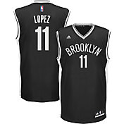 adidas Youth Brooklyn Nets Brook Lopez #11 Road Black Replica Jersey
