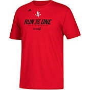 """adidas Youth Houston Rockets 2017 NBA Playoffs """"Run As One"""" Red T-Shirt"""