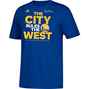"adidas Youth 2017 Western Conference Champions Golden State Warriors ""The City Rules The West"" Royal T-Shirt"