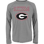 adidas Youth Georgia Bulldogs Long Sleeve Grey T-Shirt