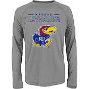 adidas Youth Kansas Jayhawks Long Sleeve Grey T-Shirt
