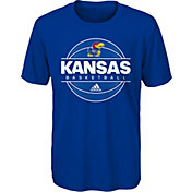 adidas Youth Kansas Jayhawks Blue On-Court Ultimate Short Sleeve T-Shirt