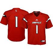 adidas Youth Louisville Cardinals Cardinal Red #1 Replica Jersey