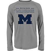 Gen2 Youth Michigan Wolverines Grey Straight Pass Long Sleeve Shirt