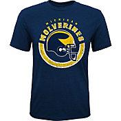 Gen2 Youth Michigan Wolverines Blue Helmet T-Shirt