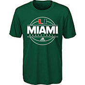 adidas Youth Miami Hurricanes Green On-Court Ultimate Short Sleeve T-Shirt