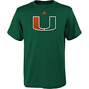 adidas Youth Miami Hurricanes Green Short Sleeve T-Shirt