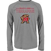adidas Youth Maryland Terrapins Long Sleeve Grey T-Shirt