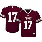 adidas Youth Mississippi State Bulldogs Maroon #17 Replica Jersey