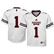 adidas Youth Mississippi State Bulldogs White #1 Replica Jersey