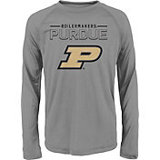 adidas Youth Purdue Boilermakers Long Sleeve Grey T-Shirt