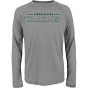 Gen2 Youth Oregon Ducks Grey Straight Pass Long Sleeve Shirt