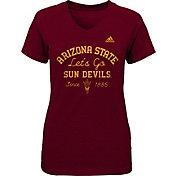 adidas Girls' Arizona State Sun Devils Maroon V-Neck T-Shirt