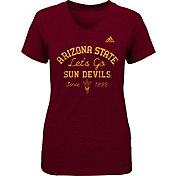 adidas Girls' Arizona State Sun Devils Maroon V-Neck T-Shirt