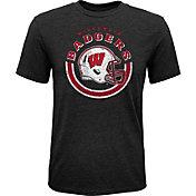 Gen2 Youth Wisconsin Badgers Black Helmet T-Shirt