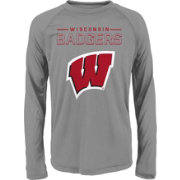 Gen2 Youth Wisconsin Badgers Grey Straight Pass Long Sleeve Shirt