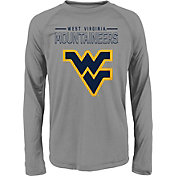 Gen2 Youth West Virginia Mountaineers Grey Straight Pass Long Sleeve Shirt