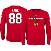 adidas Youth Chicago Blackhawks Patrick Kane #88 Red Long Sleeve Shirt