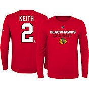 adidas Youth Chicago Blackhawks Duncan Keith #2 Red Long Sleeve Shirt