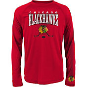 NHL Youth Chicago Blackhawks Tornado Red Performance Long Sleeve Shirt