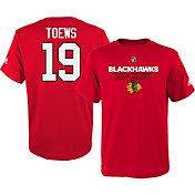 adidas Youth Chicago Blackhawks Jonathan Toews #19 Red T-Shirt