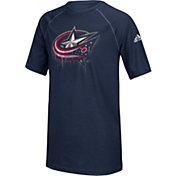 adidas Youth Columbus Blue Jackets Drifting Navy T-Shirt