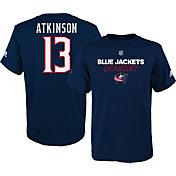 adidas Youth Columbus Blue Jackets Cam Atkinson #13 Navy T-Shirt