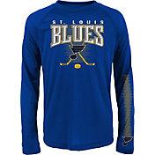 NHL Youth St. Louis Blues Tornado Royal Performance Long Sleeve Shirt