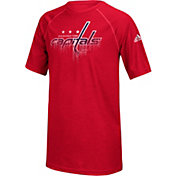 adidas Youth Washington Capitals Drifting Red T-Shirt