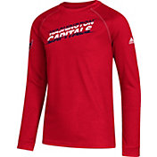 adidas Youth Washington Capitals Line Shift Red Long Sleeve Shirt