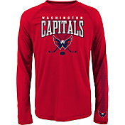 NHL Youth Washington Capitals Tornado Red Performance Long Sleeve Shirt