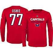 adidas Youth Washington Capitals T.J. Oshie #77 Red Long Sleeve Shirt