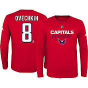 adidas Youth Washington Capitals Alexander Ovechkin #8 Red Long Sleeve Shirt