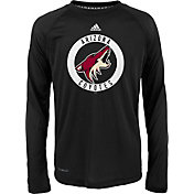 adidas Youth Arizona Coyotes Practice Black Performance Long Sleeve Shirt