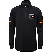 adidas Youth Philadelphia Flyers Authentic Pro Black Quarter-Zip Jacket