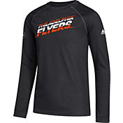 adidas Youth Philadelphia Flyers Line Shift Black Long Sleeve Shirt