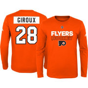 adidas Youth Philadelphia Flyers Claude Giroux #28 Orange Long Sleeve Shirt