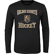 NHL Youth Vegas Golden Knights Morning Skate Black Long Sleeve Shirt