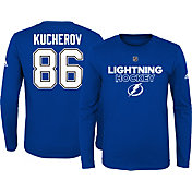 adidas Youth Tampa Bay Lightning Nikita Kucherov #86 Royal Long Sleeve Shirt