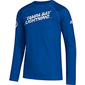 adidas Youth Tampa Bay Lightning Line Shift Royal Long Sleeve Shirt