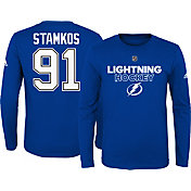 adidas Youth Tampa Bay Lightning Steven Stamkos #91 Royal Long Sleeve Shirt