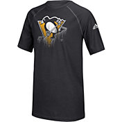 adidas Youth Pittsburgh Penguins Drifting Black T-Shirt