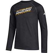 adidas Youth Pittsburgh Penguins Line Shift Black Long Sleeve Shirt