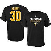 adidas Youth Pittsburgh Penguins Matt Murray #30 Black T-Shirt