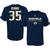 adidas Youth Nashville Predators Pekka Rinne #35 Navy T-Shirt