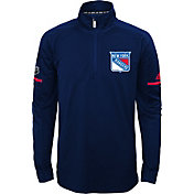 adidas Youth New York Rangers Authentic Pro Navy Quarter-Zip Jacket