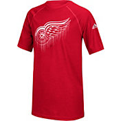 adidas Youth Detroit Red Wings Drifting Red T-Shirt