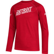 adidas Youth Detroit Red Wings Line Shift Red Long Sleeve Shirt